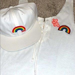 Hollister rainbow tank top